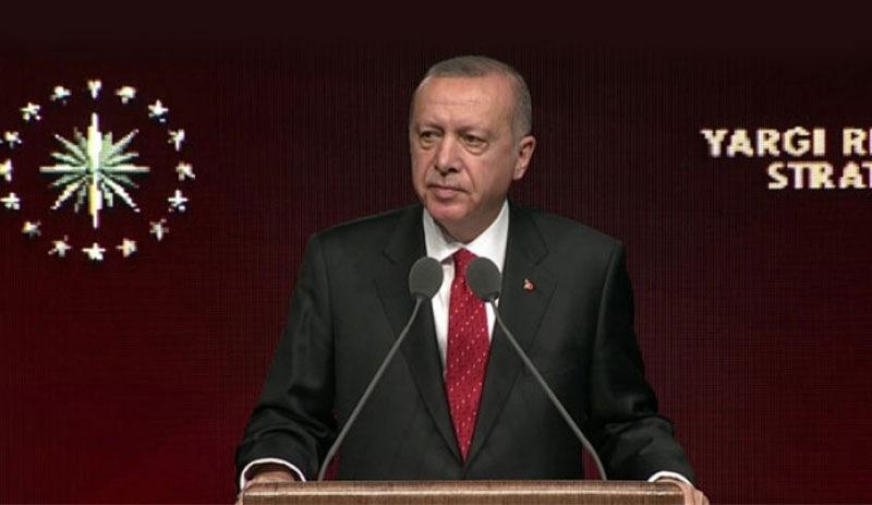Adalet Bakanlığı'nın 'yargı reformu'nu Erdoğan açıkladı