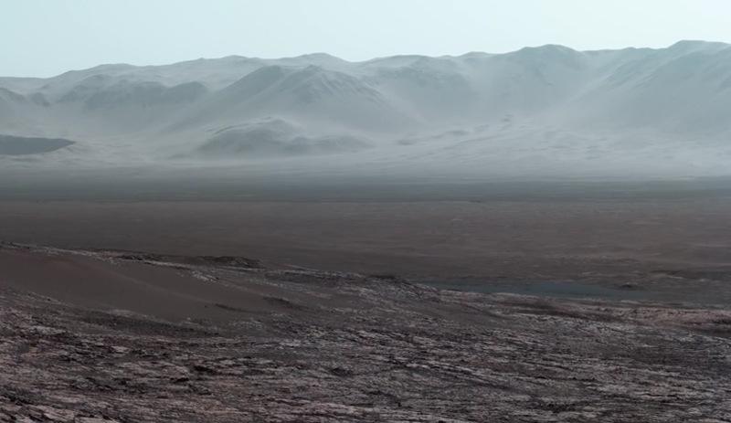 NASAdan büyüleyici panoramik Mars görüntüsü