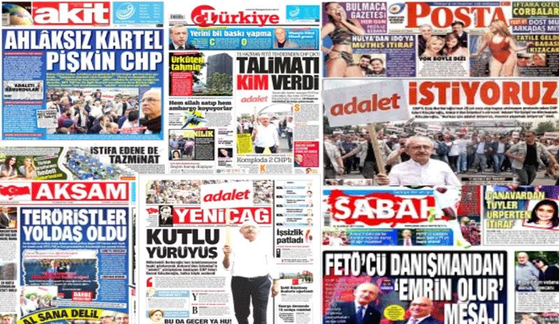 'Adalet Yürüyüşü' medyayı böldü