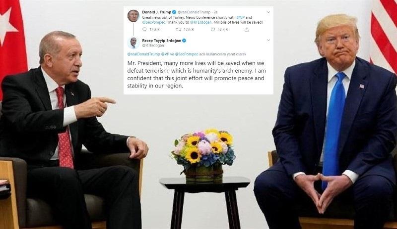 Erdoğan'dan Trump'a Twitter'dan cevap