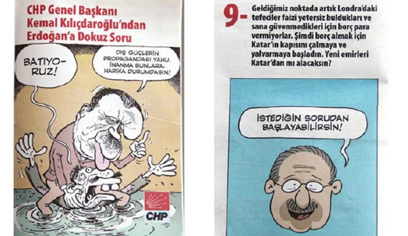 Kılıçdaroğlu'ndan Erdoğan'a karikatürlü 9 soru
